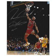 NBA Chicago Bulls Dennis Rodman #91 Signed Autographed Photographed 8x10  Dunk
