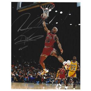 Dennis Rodman Chicago Bulls NBA #91 8x10 Signed Autographed Photo Dunk JSA Card