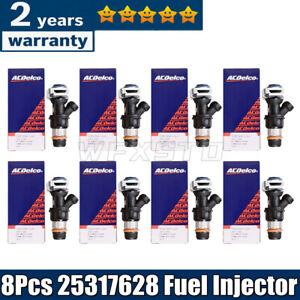 8* Upgrade Fuel Injector 25317628 For 1999-2007 Chevy Silverado GMC 4.8/5.3/6.0L