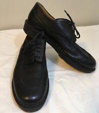 ANTICA CUOIERIA Men's  Black Leather Lace Ups Pebble Grain 10D Free Ship!