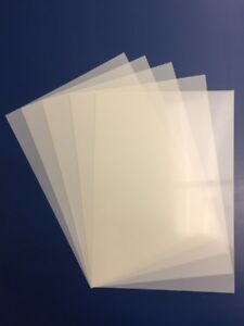PACK OF 5 GENUINE BLANK  A4 MYLAR STENCIL SHEETS