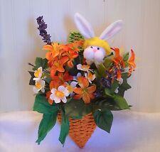 Easter Bunny Delight in Wicker Carrot Flower Arrangement  - Wall/Door  Hanging