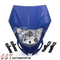Enduro Headlight Head Lamp Faring For Yamaha WR250F/X WR450F YZ XT XT250X Blue