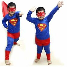 Superman Big Costume Fancy Dress Suit & Eye Mask for Kids (5 year) Gift Cloth