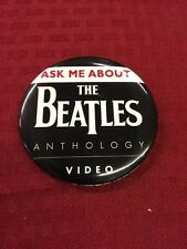 Ask Me About The Beatles Video Anthology Record Store Release Pin