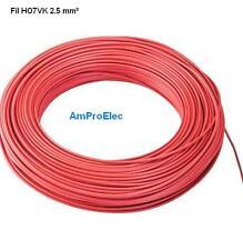 Fil électrique souple HO7-VK 2,5 mm² 5 mètres 5 Couleurs différentes