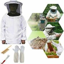 Beekeeping Suit Kit Heavy Duty Jacket Veil Gloves Bee Brush Super Hive Hook W5P3