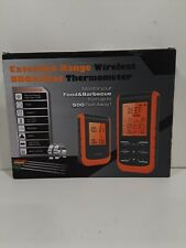 New listing Extended Range Wireless Bbq & Meat Thermometer Monitor From Up To 500 Feet Away