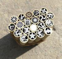 Mosaic pin Rivets 45mm Brass+Steel tube 8mm diameter, Knife Handle Pins - 1pc
