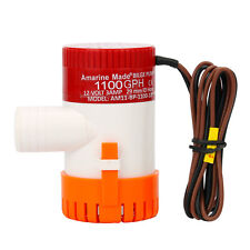 12V 1100GPH Boat Marine Plumbing Electric Pump Unique For Any Blige-Amarine-made