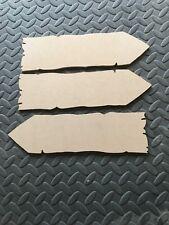 5 x Wooden Arrow Plain Door Sign Wall Hanging Arrows Plaques