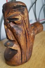 HAND CARVED WOOD HOLLERING HEAD GAVEL / MALLET.  TREE TRUNK CENTER SECTION