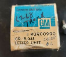 1967 1968 NOS TRUCK OEM AC DELCO GM CHEVY HOOD LETTER TRIM  #3900990