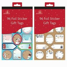 192 Christmas Gift Tags 96 Cute 64 Gold 32 Silver Foil Gift Labels Xmas Stickers