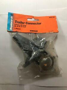 Dorman 643-151 6-Pole Round Trailer Connector Kit Standard TC62K 20A 6V 12V 24V