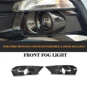 Carbon Nebelscheinwerfer Blende Fog Light für Ford Mustang Coupe Cabrio 2015-17