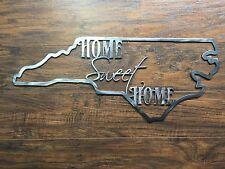 North Carolina State Outline Home Sweet Home Metal Wall Art Home Decor
