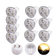10Pcs Ultra Bright GU10 3W 3000-3500K Warm White LED Spot Light Lamp Bulb Hot
