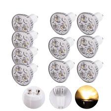 10Pcs Ultra Bright GU10 3W 3000-3500K Warm White LED Spot Light Lamp Bulb Hot