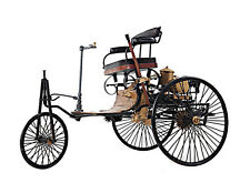 "1886 Mercedes Benz Patent Motorwagen Metal Desk Car Model 14"" Automotive Decor"
