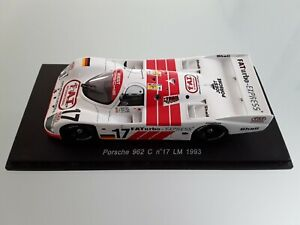 Spark 1/43 Porsche 962 C n°17 Le Mans 1993 Reuter - Jelinski - Winter S2083