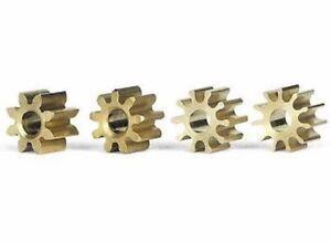 Slot.it SIPIMX Pinion Set 8, 9, 10 & 11T Inline 5.5mm for 2mm Shaft, Brass 4/pcs