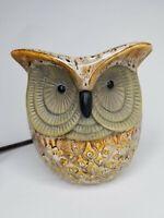 Vintage 80s Ceramic Owl Lamp Nightlight / Wax Warmer in Great Condition