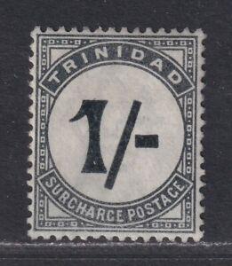 Trinidad SG D9 Scott J9 VF MNH 1885 1/- Postage Due Wmk Crown CA SCV $82.50