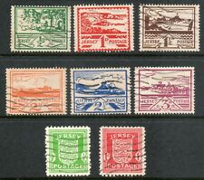 JERSEY 1943 GERMAN OCCUPATION ARMS AND VIEWS  SG,1 - 8 used