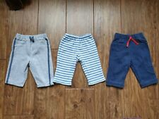 3 x Blue & Grey Trousers from M&S and Cherokee (Tesco) (3 - 6 Months) - VGC