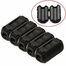 5pcs 3.5mm Noise Suppressor EMI RFI Clip Choke Ferrite Core Cable Filter Black
