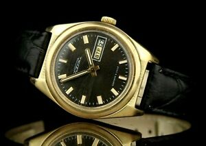 RAKETA ROCKET 2628.H Gold Plated AU1 Vintage Soviet Mechanical Wristwatch USSR ☭