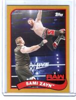 WWE Sami Zayn #66 2018 Topps Heritage Gold Parallel Card SN 2 of 10