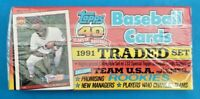 1991 FACTORY SEALED TOPPS TRADED 132 Card SET BASEBALL CARDS