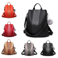 Ladies Rucksack Women Nylon Pompom Backpack Handbag Anti-theft Shoulder Bag