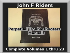 Tube Radio Schémas John F Rider's Perpetual Troubleshooters manuels sur 4 dvd