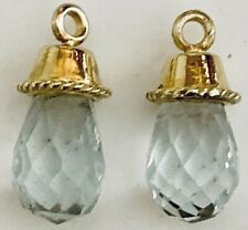18K Yellow Gold Aquamarine Earring Drops