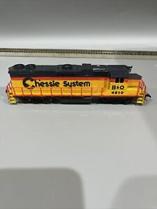 Pt2) HO Scale Train Life-Like Chessie System Locomotive Baltimore Ohio 4810