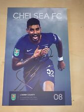 Frank Lampard Chelsea Signed Programme Derby County England Autograph