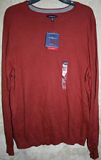 NWT Croft & Barrow long sleeve Sweater Crew Rust Super Soft XXLT Cotton Syn