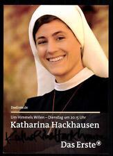 Katharina Hackausen Um Himmels willen Autogrammkarte Original ## BC 33462