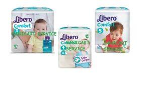 3x PANNOLINI BABY LIBERO NEW BORN COMFORT TG 1/2/3/4/5/6/7 - LIBERO MARE/PISCINA