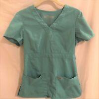 Greys Anatomy Womens Scrubs Top Teal Style 4153 Size XS