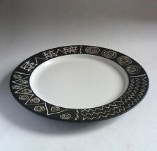 """HABITAT pottery Scraffito LARGE SERVING PLATE 12.5"""", Discontinued Made in Japan"""