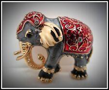Gorgeous Indian Elephant Brooch,Beautiful,Gift Idea,Brooch,Enamel,Fashion,Zoo