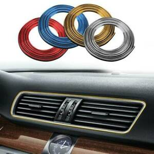 Car Accessory Interior Edge Gap Strip Trim Garnish Molding Line Red Decorate