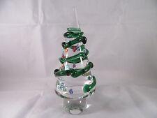 "8"" Tall MURANO Italy Clear Glass Millefiori CHRISTMAS TREE Sculpture Figurine"