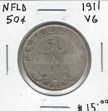 Canada Newfoundland NFLD 1911 50 Cents VG