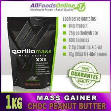 Mass Gainer - Whey Protein - Gorilla Mass - Chocolate Peanut Butter - 1kg