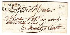 LETTRE 1826  MARQUE POSTALE CLERMONT FERRAND POUR MURAT